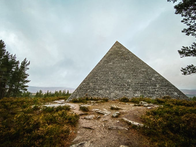 Where is the Pyramid in Scotland?
